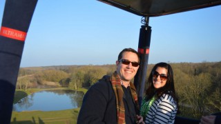 Flight In Hot-air Balloon Of The Castle Of Esclimont, On March 17th, 2015