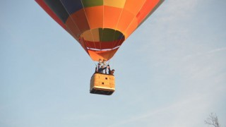 Flight In Hot-air Balloon In The Morning Of August 8th, 2015 From The Castle Of Esclimont