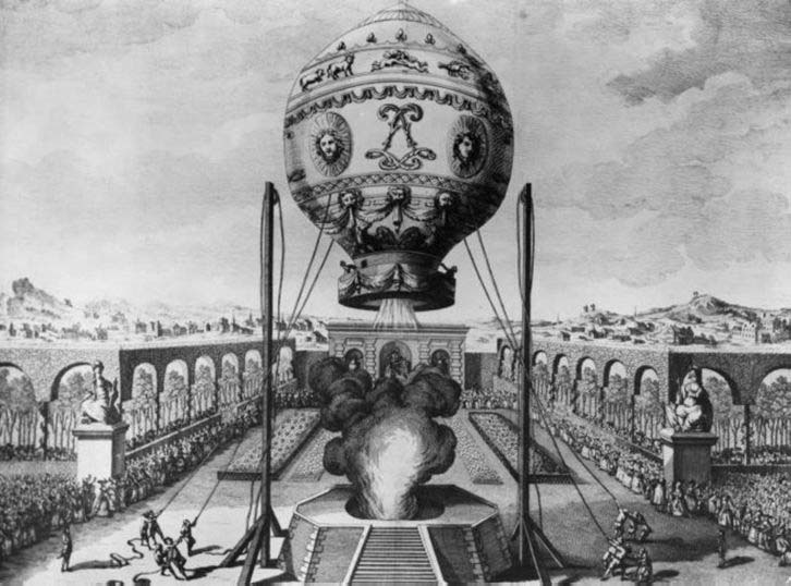 First manned flight at la Folie Titon, the October 19th, 1783