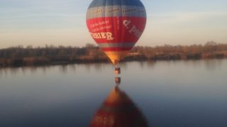 Vol à St Dizier Avec L'Entreprise D.PERRIER Au Dessus Du Lac Du Der